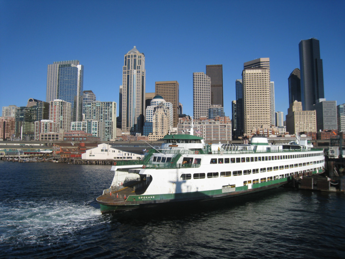 Washington State Car Ferry - downtown Seattle