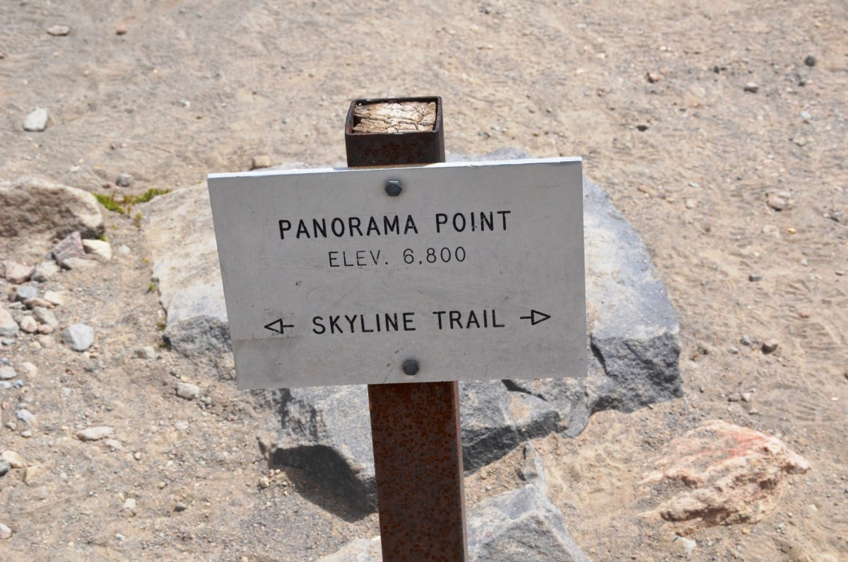 Panorama Point Sign on the Skyline Trail @ Mount Rainier National Park