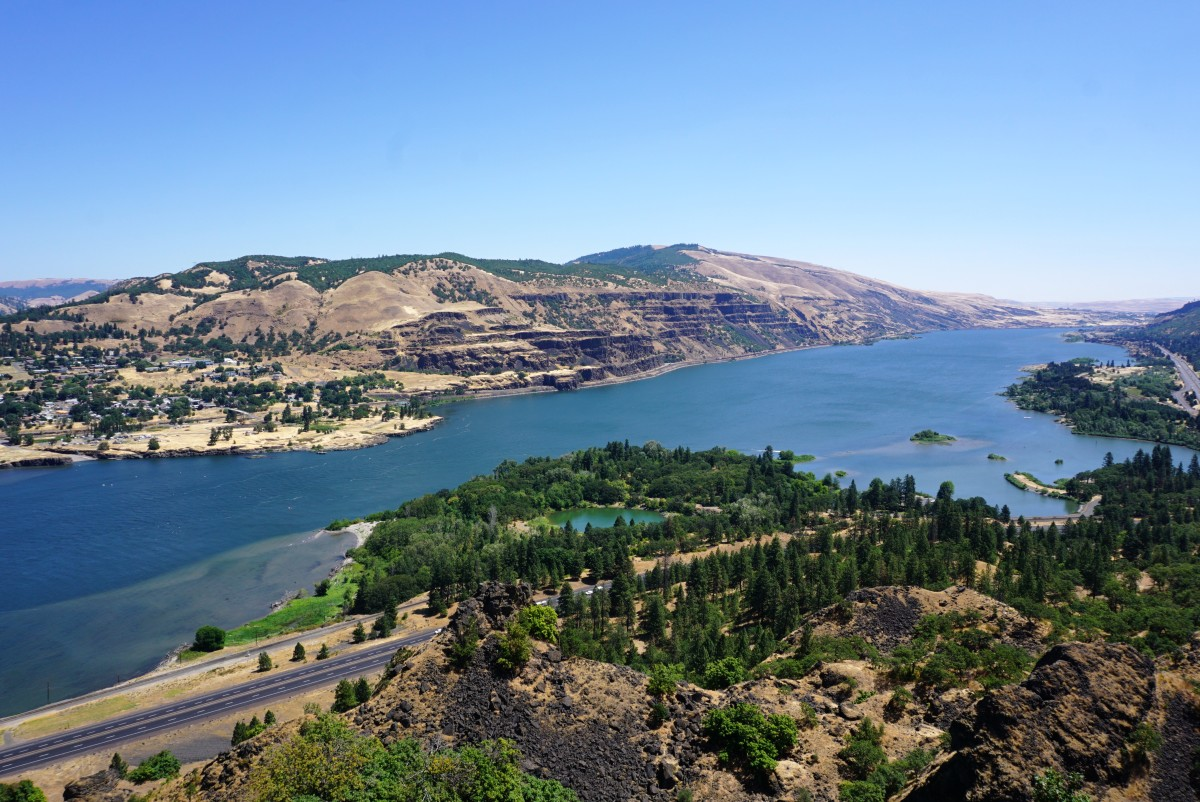 Eastward view of the Columbia River Gorge from the Rowena Crest Viewpoint