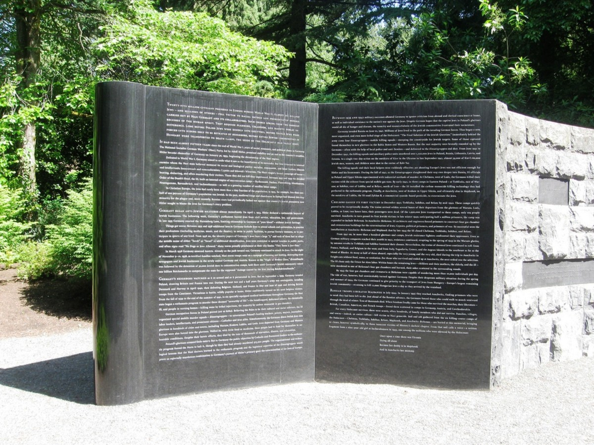 Oregon Holocaust Memorial at Washington Park in Portland