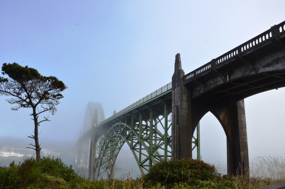 Yaquina Bay Bridge in Newport, Oregon