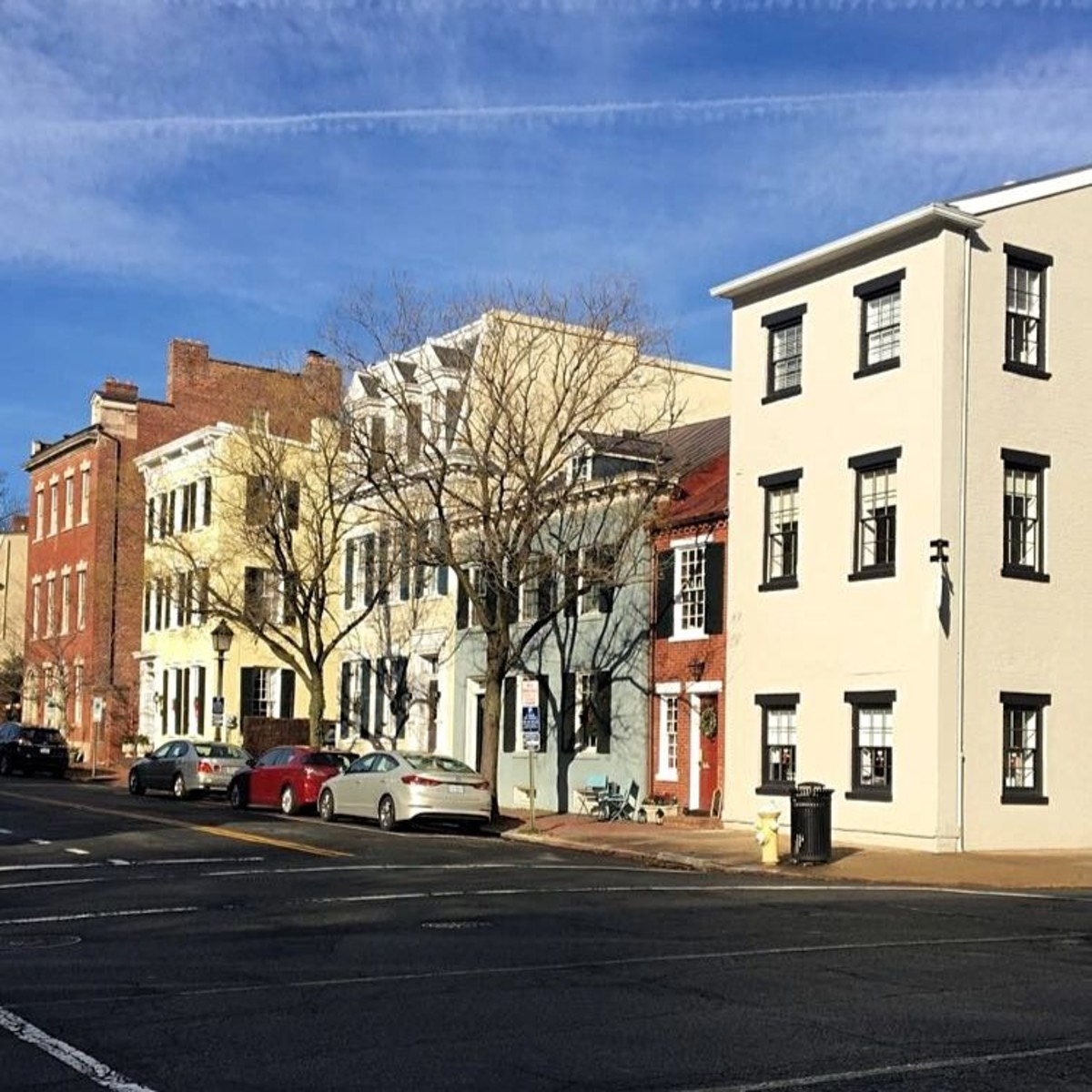 There is so much charm along the side streets of Old Town Alexandria.