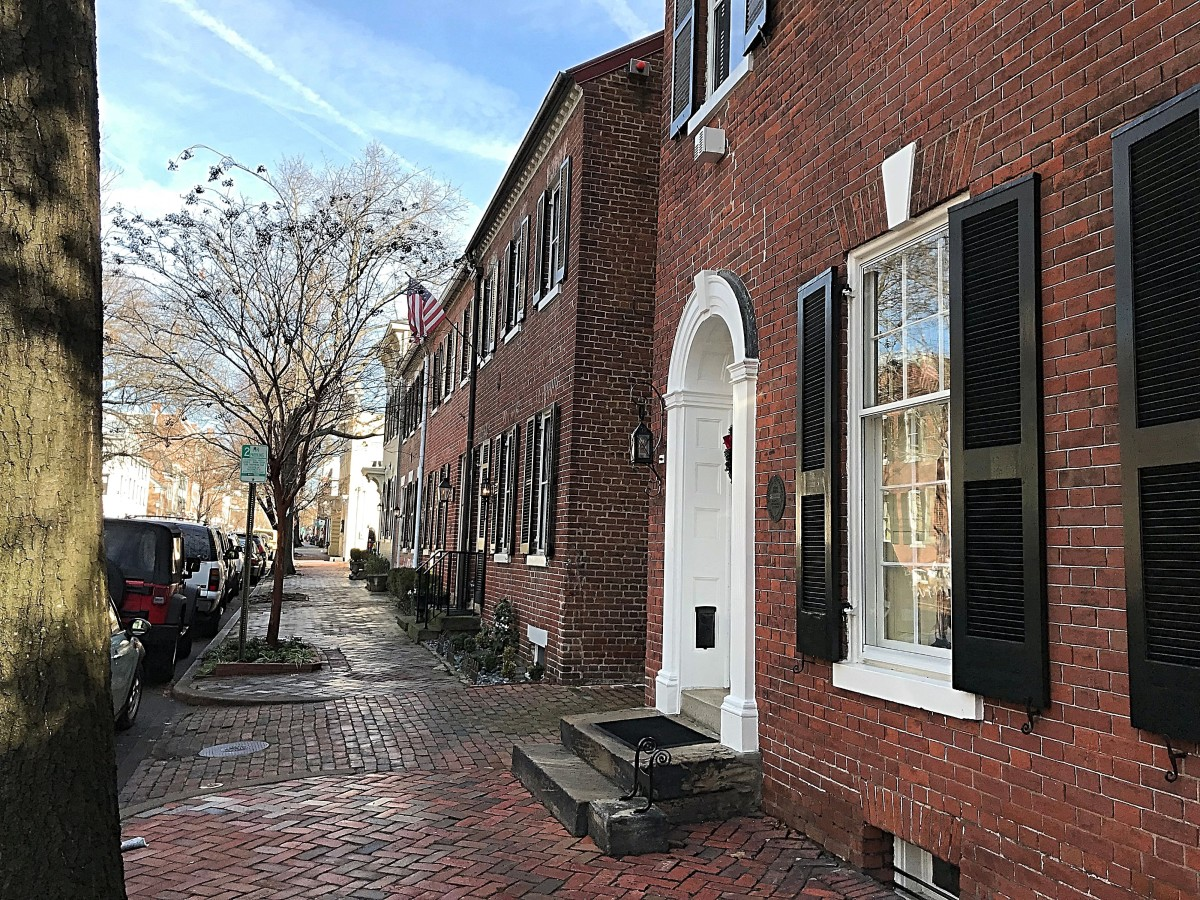 Brick sidewalks and beautifully restored homes are one of the trademarks of Old Town Alexandria.