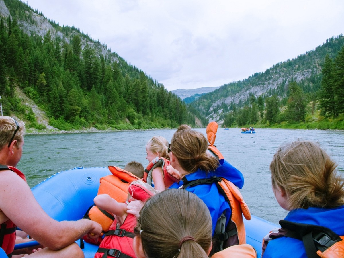 Rafting the Snake River in Grand Teton National Park, Wyoming