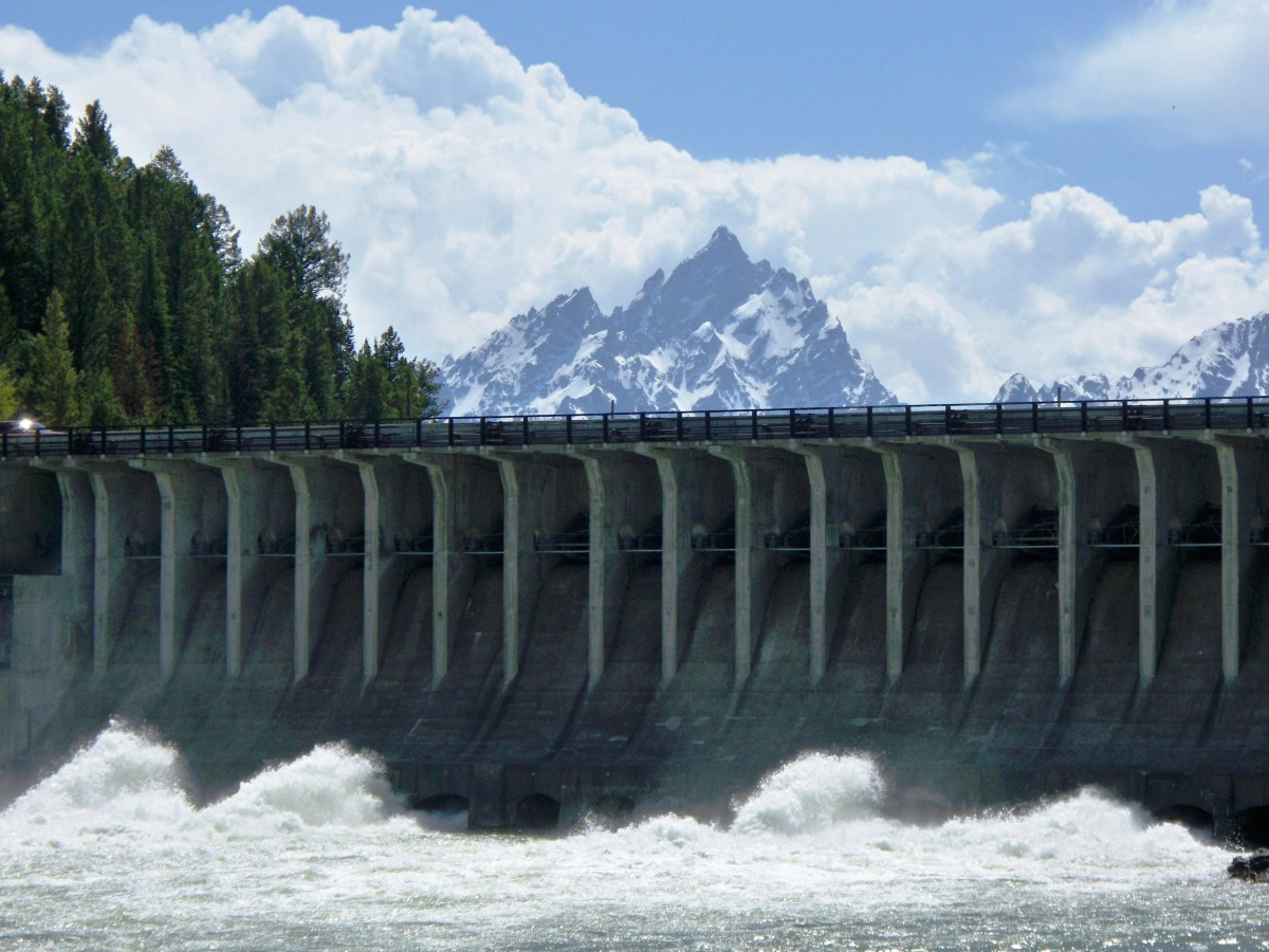Jackson Lake Dam in Grand Teton National Park, Wyoming