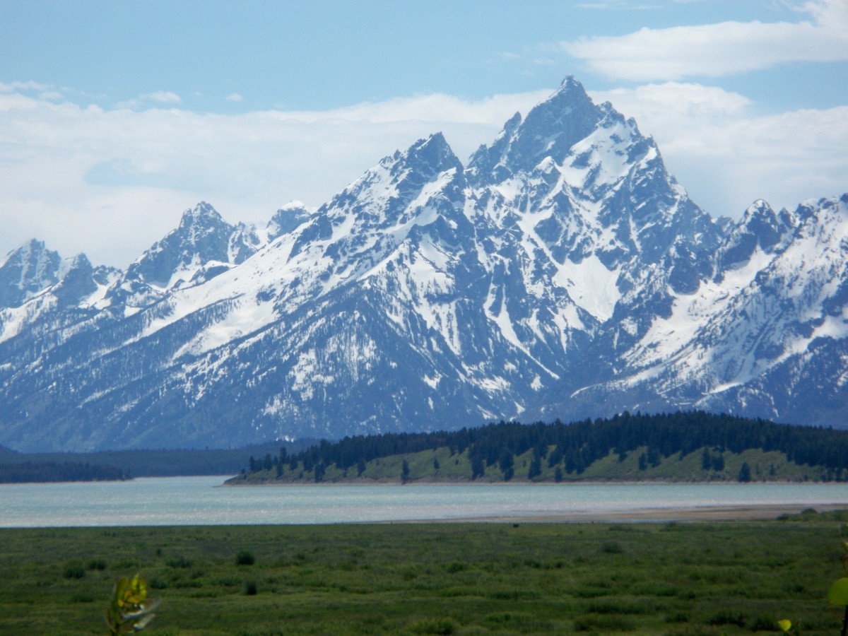 Jackson Lake from Jackson Lake Lodge in Grand Teton National Park, Wyoming