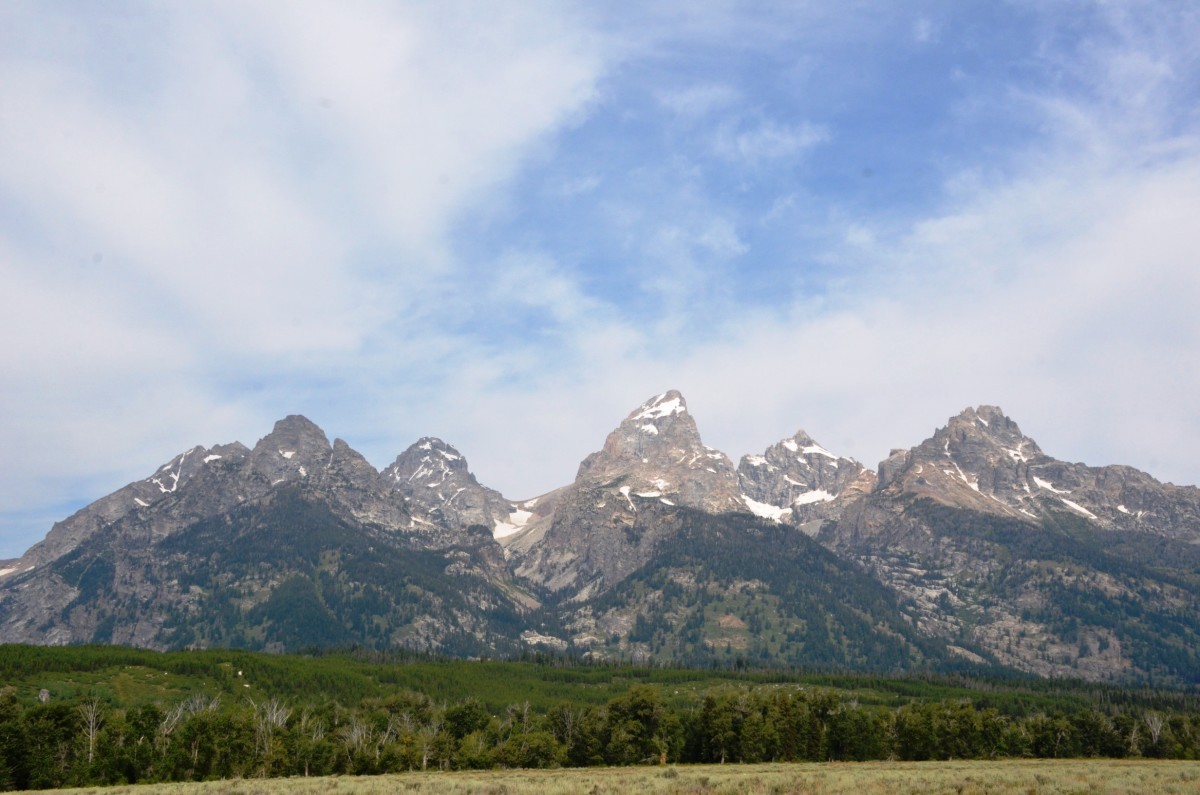 View from the Teton Park Road in Grand Teton National Park, Wyoming