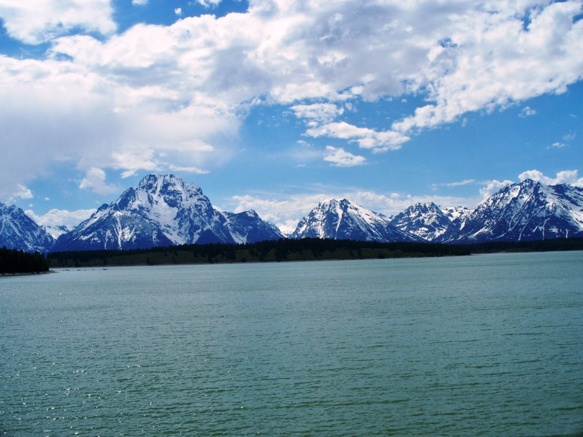 Jackson Lake in Grand Teton National Park, Wyoming