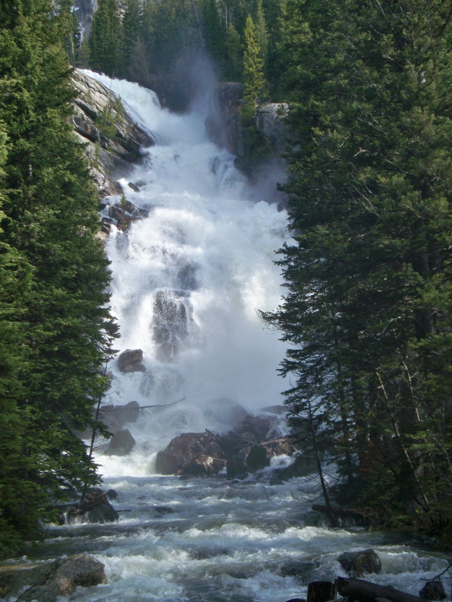 Hidden Falls at Grand Teton National Park in Wyoming