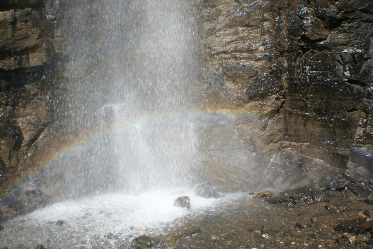 Roadside waterfall