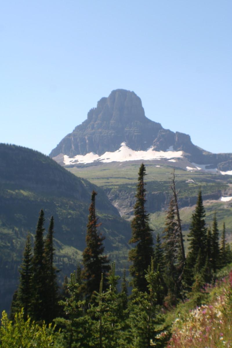 Snowclad mountain
