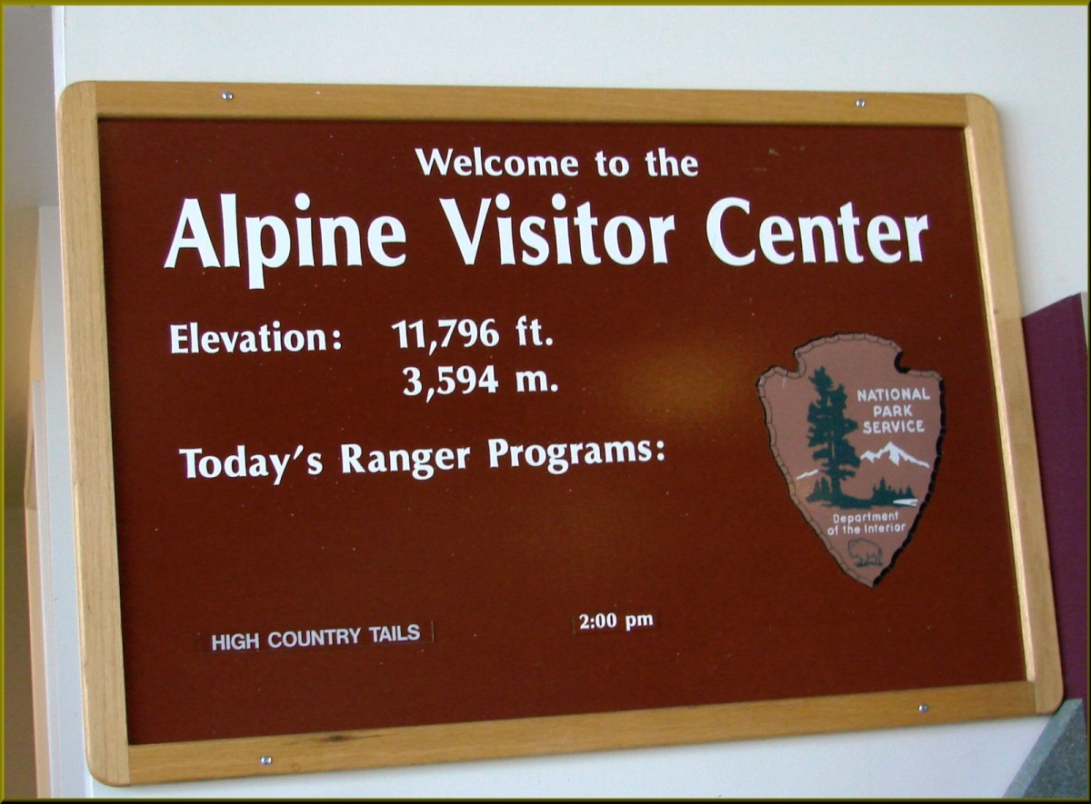 Alpine Visitor Center off of Trail Ridge Road in Rocky Mountain National Park