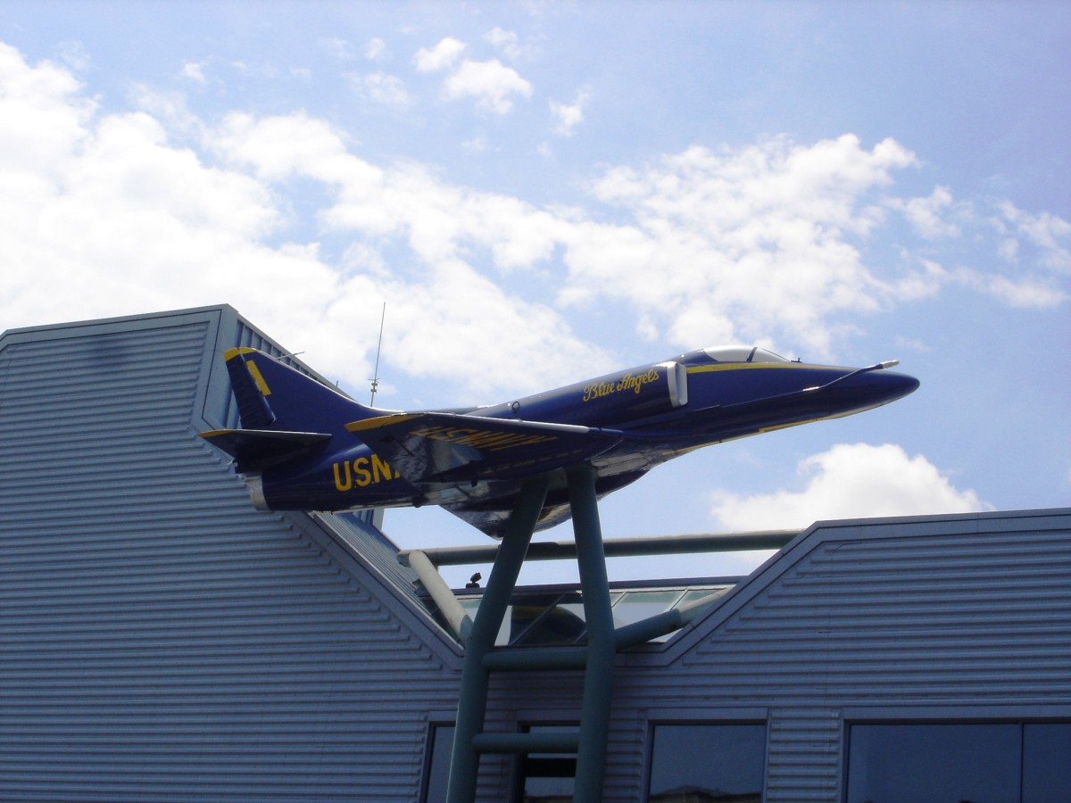 Blue Angel replica at Naval Museum Nauticus in Norfolk, VA