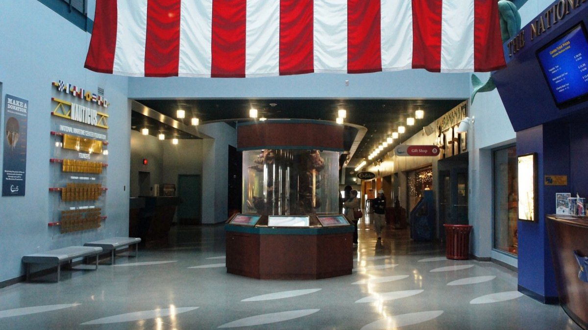 Naval Musuem Nauticus Lobby with Saltwater Aquarium in Norfolk, VA