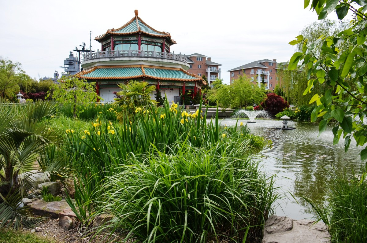 Pagoda & Oriental Garden in downtown Norfolk, VA