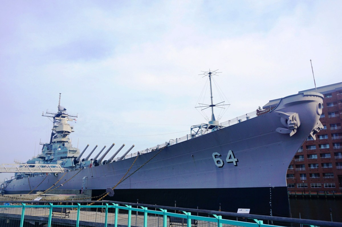 Battleship Wisconsin in Norfolk, VA