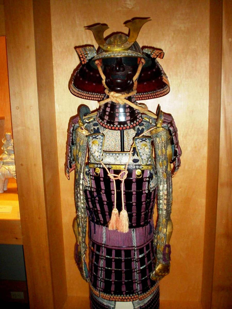 Asian looking suit of armor at the Chrysler Museum of Art in Norfolk, VA