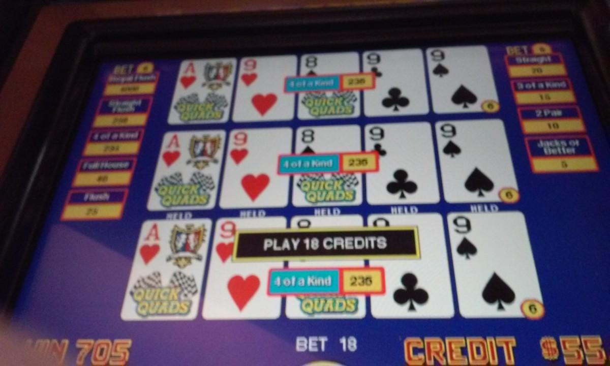 Impressive Quick Quads Hand - Bay Mills Casino