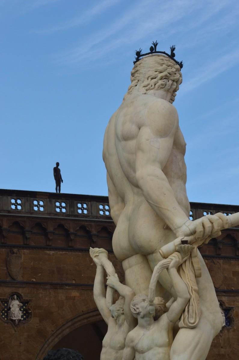 Statues in the Piazza della Signoria (c) Anne Harrison
