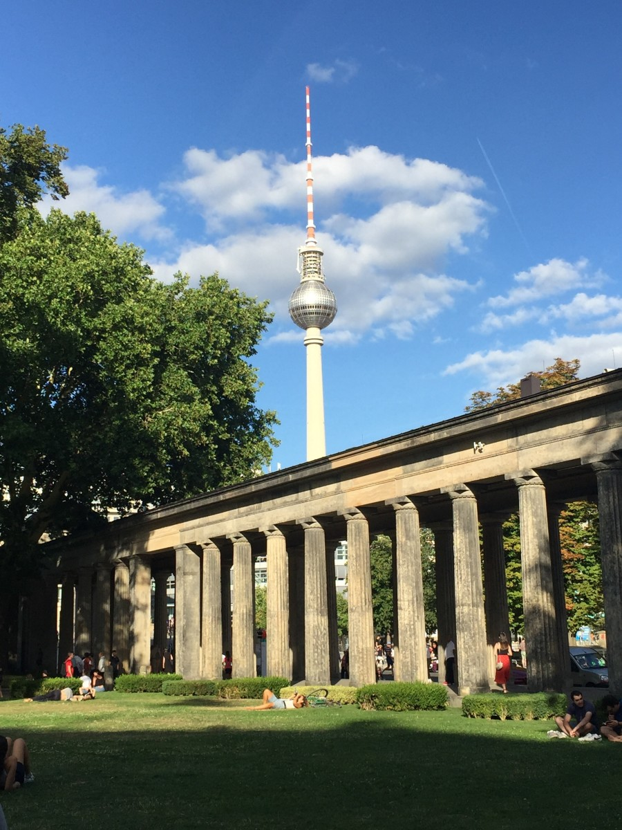View of the Fernsehturm from the Museum Island