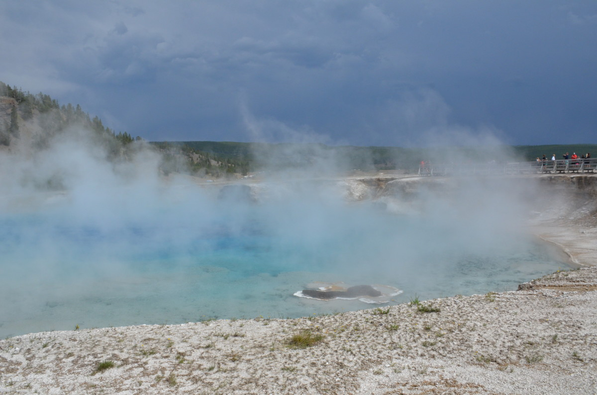A hot spring near Grand Prismatic Spring in Yellowstone National Park