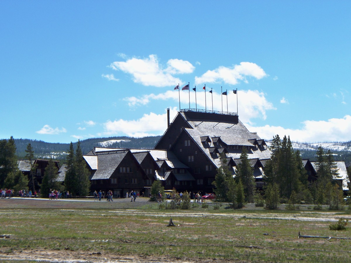 Old Faithful Lodge at Yellowstone National Park