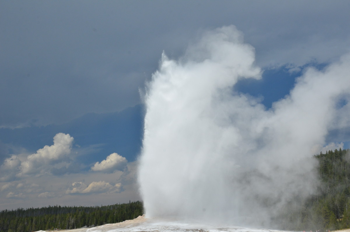 Old Faithful at Yellowstone National Park
