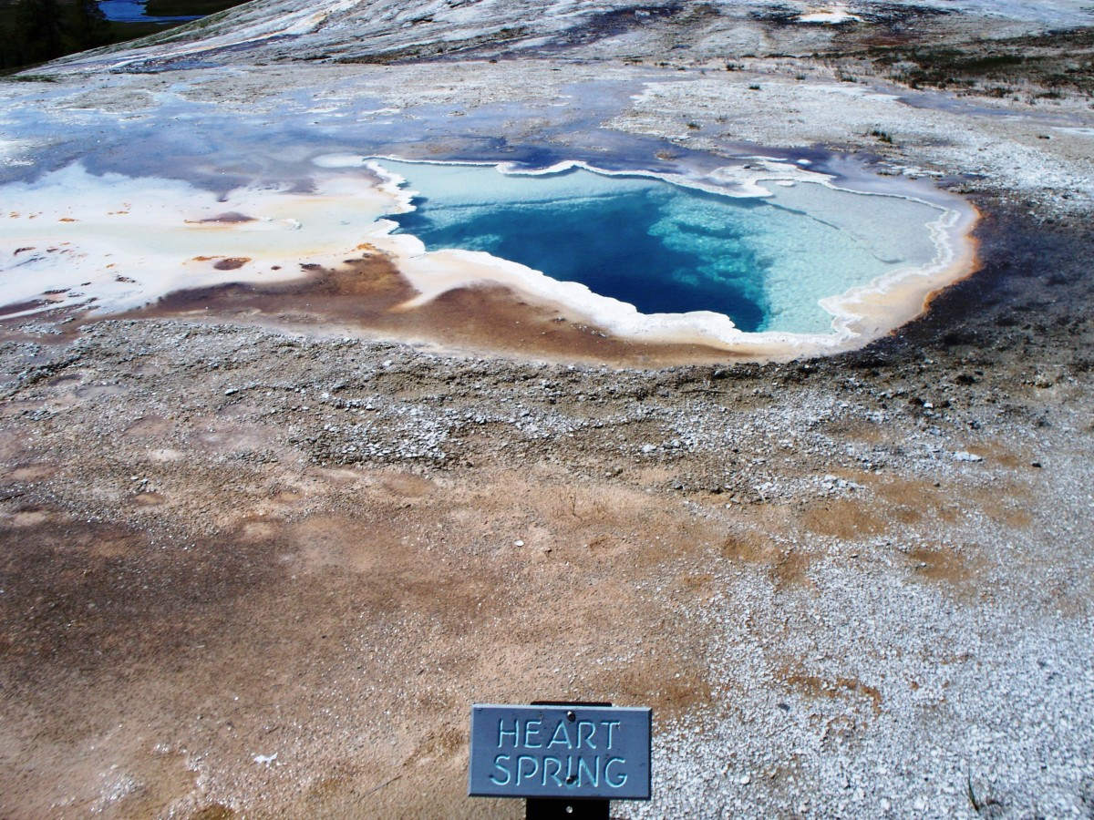 Heart Spring near Old Faithful at Yellowstone National Park