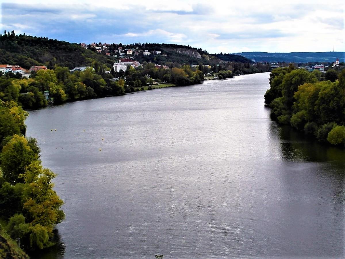 River Vltava south of Prague.