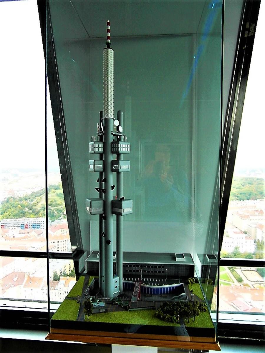 Model of Zizkov Television Tower.