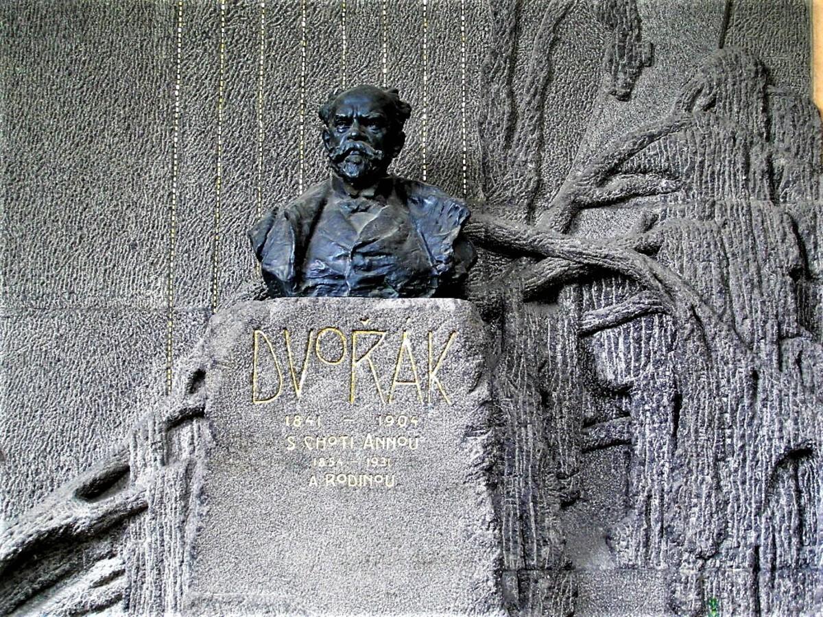 Elaborate Dvorak memorial.