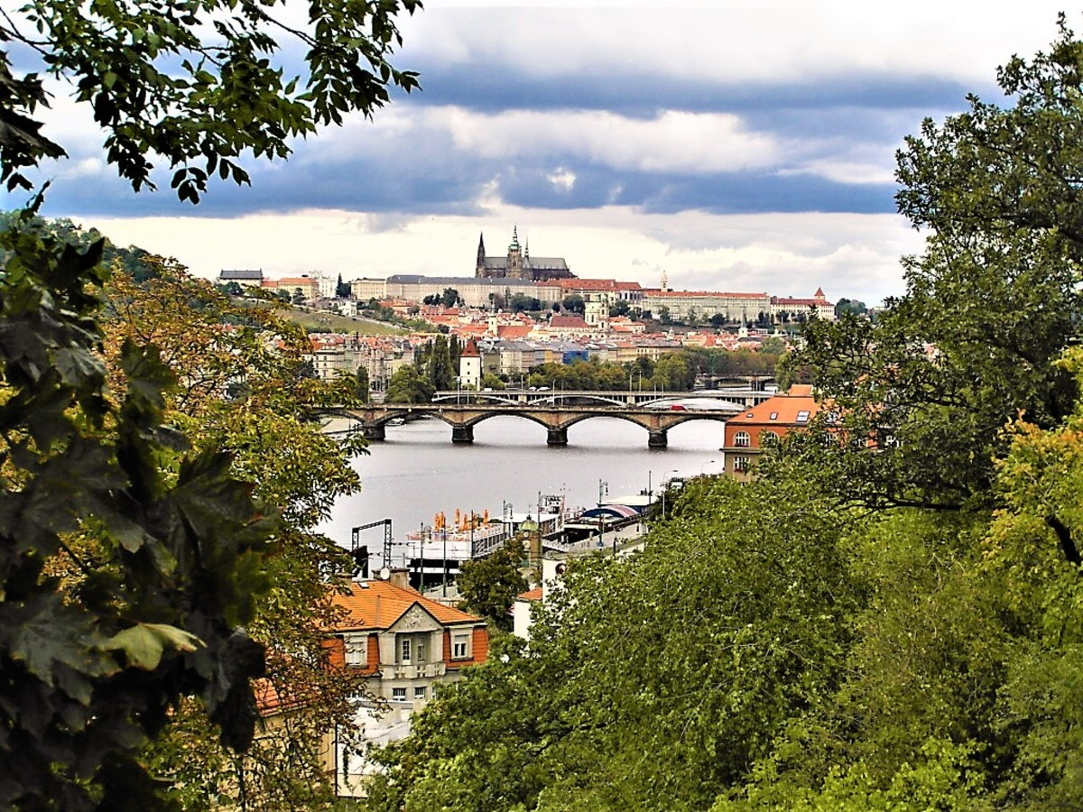 Glimpsing Prague from afar.