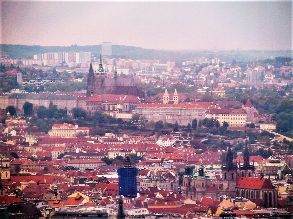 Prague Castle with the Old Town in the foreground.