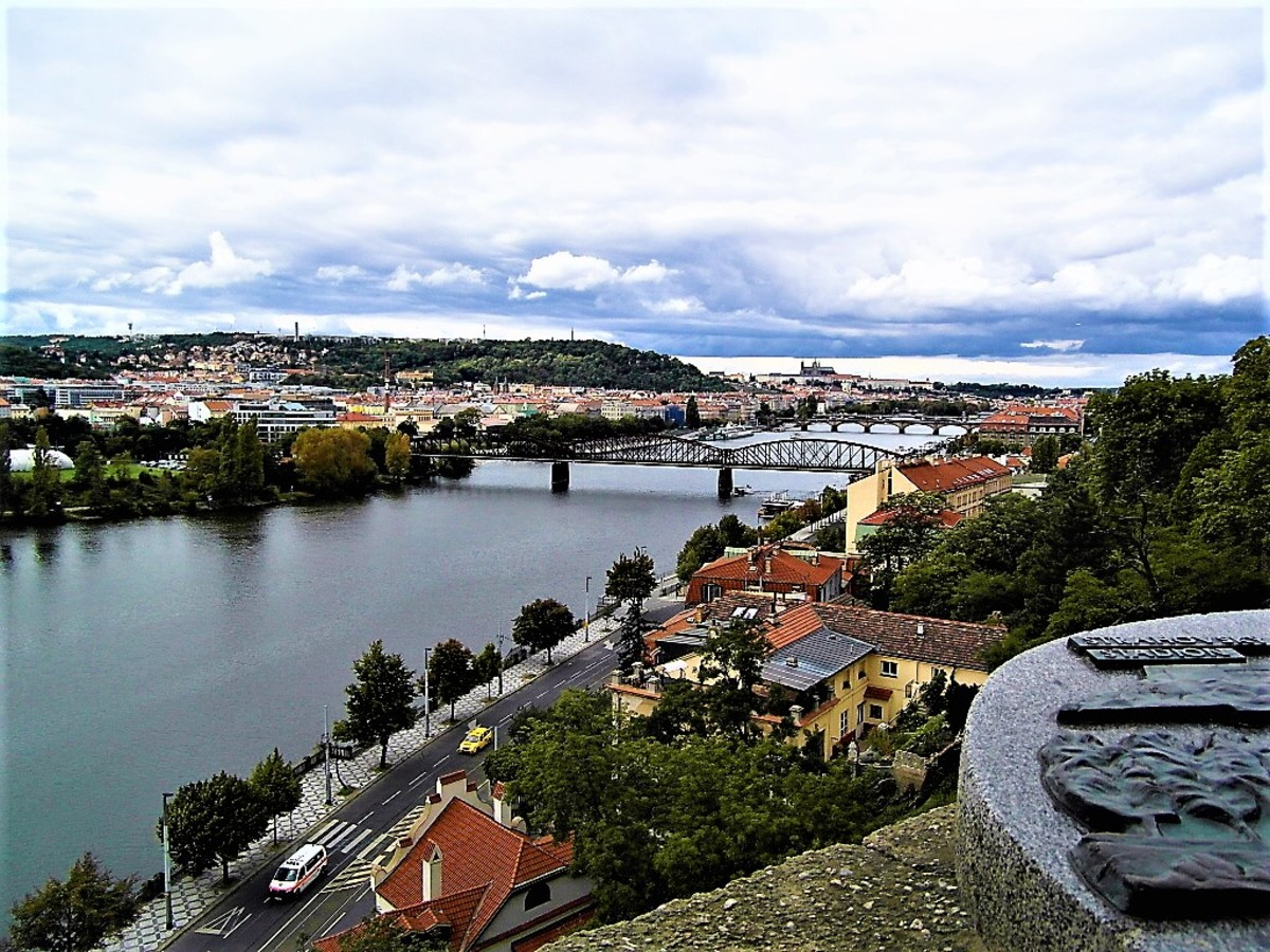 River Vltava flowing through Prague.