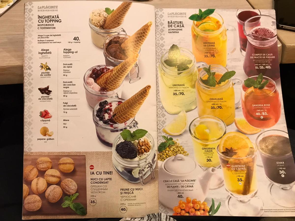 Drinks and Desserts in Moldova