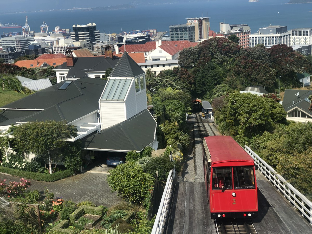 The Cable Car Coming up to Kelburn From Lambton Quay