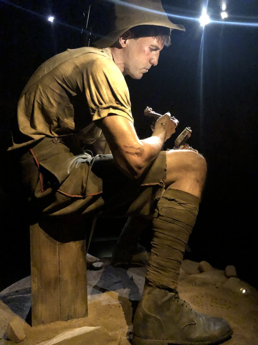 Soldier From Te Papa's Gallipoli Exhibit (This exhibit was created in conjunction with Weta Workshop.)
