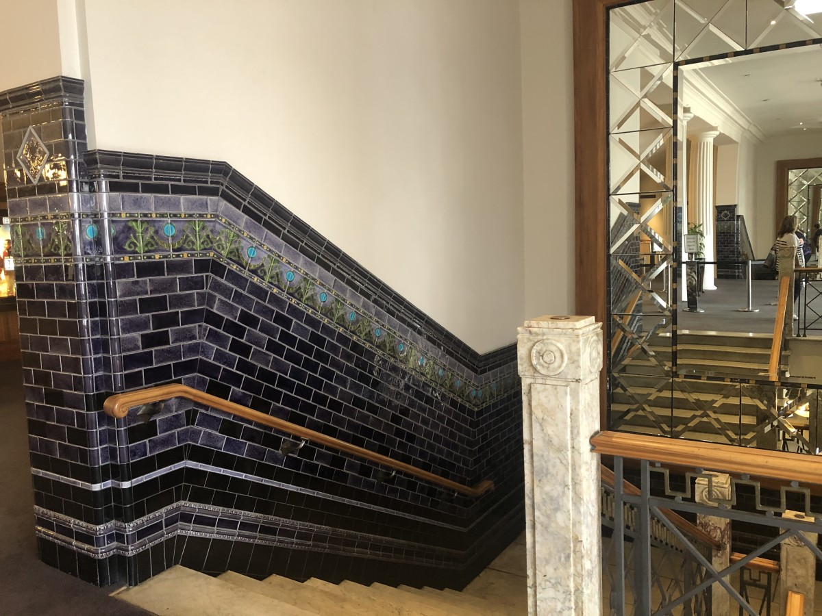 Beautiful Craftsmanship in the Walls and Staircase
