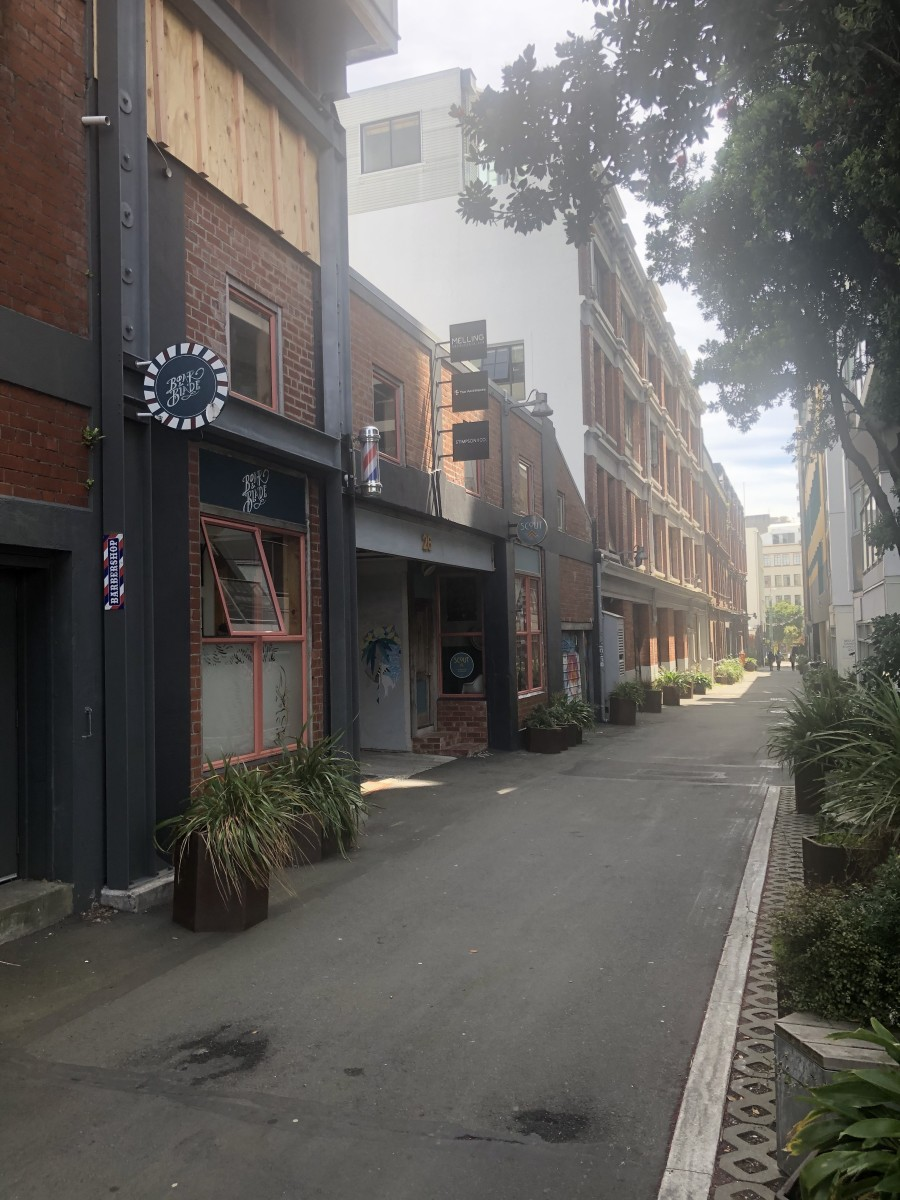 Egmont Street is full of old warehouses that have been turned into apartments and studio workshops.