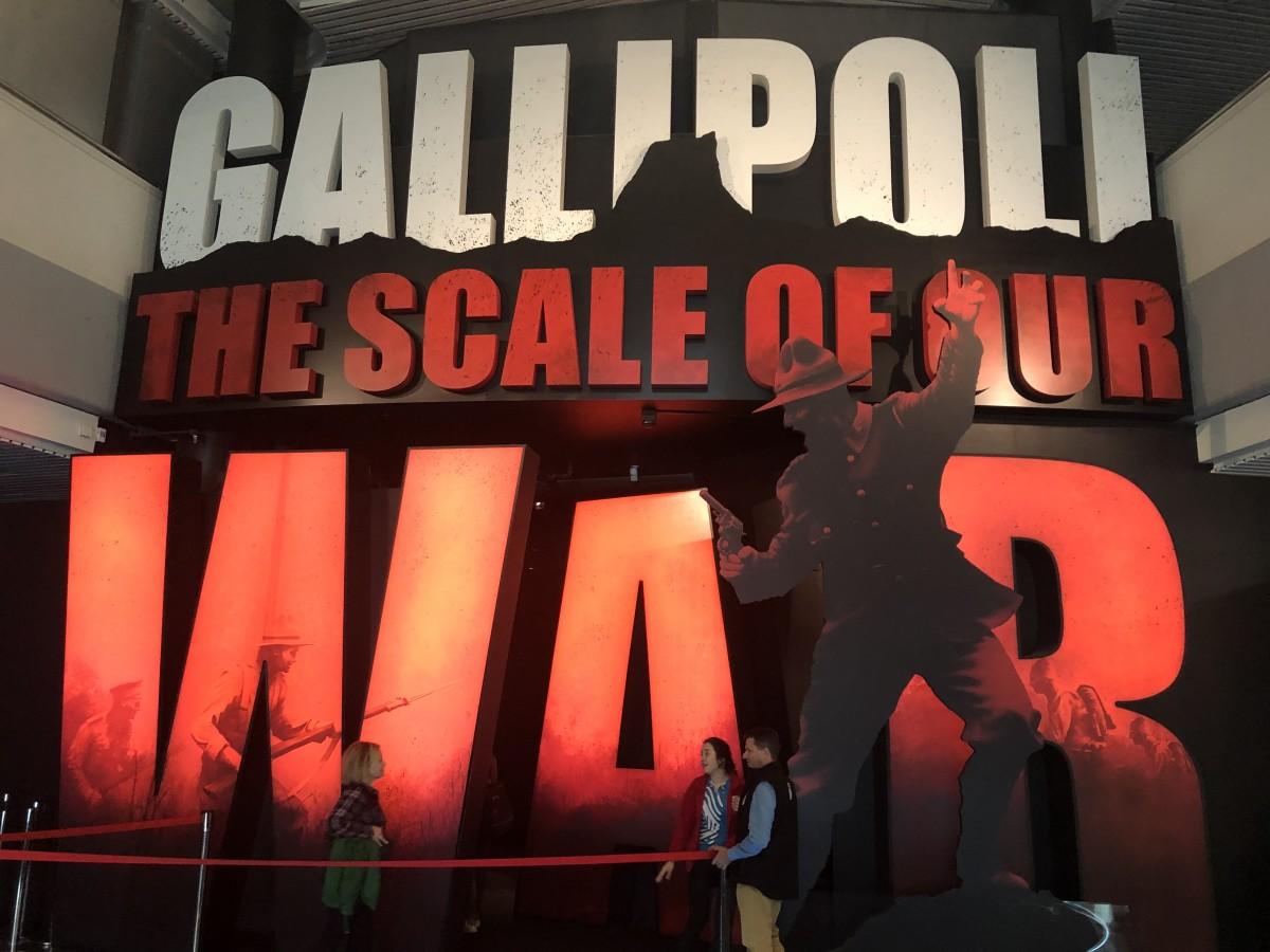 Entrance to the Wonderful Gallipoli Exhibition
