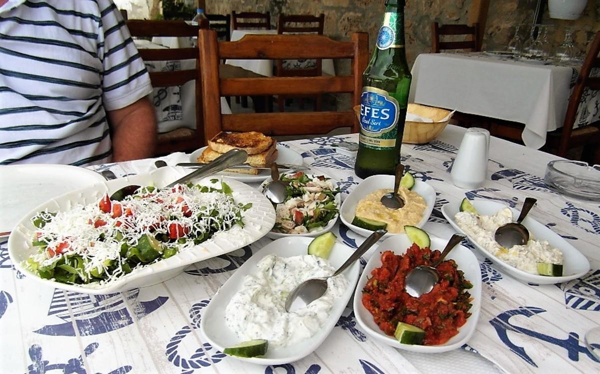 Mezze in Kyrenia.