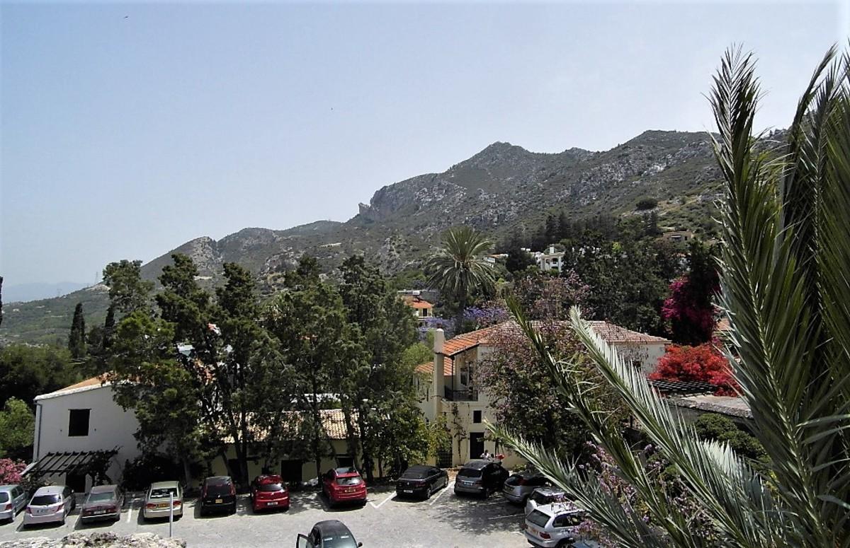 The Kyrenian mountain range behind the abbey.
