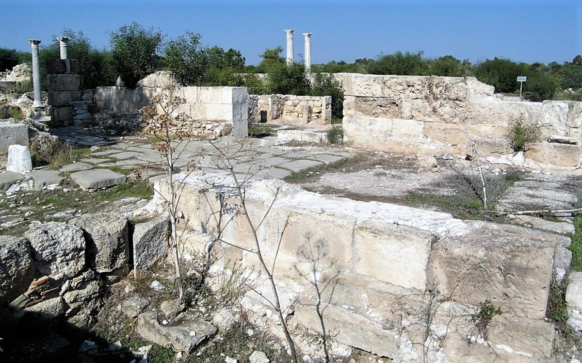 The ruins of Salamis.