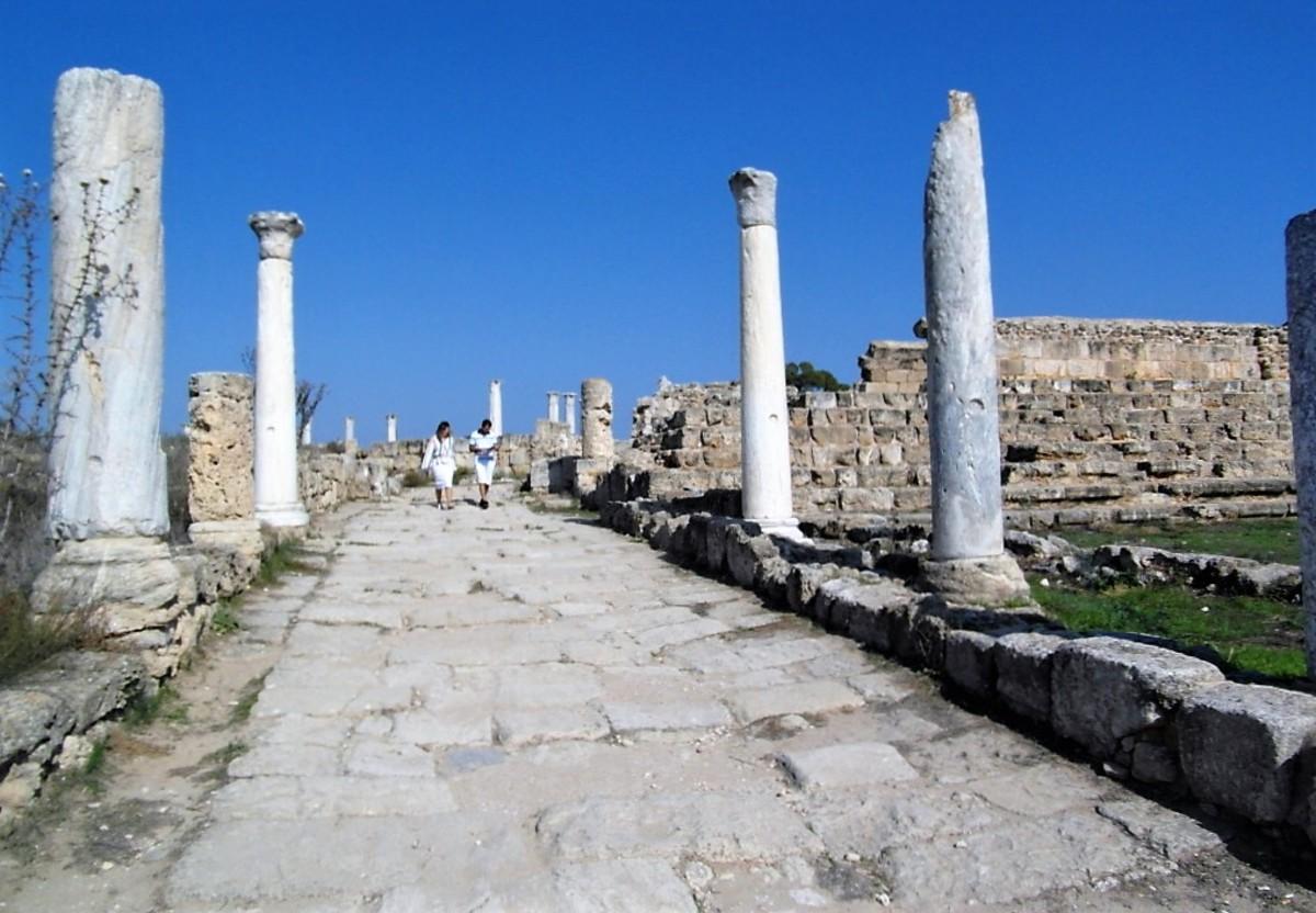 Walkway in Salamis.