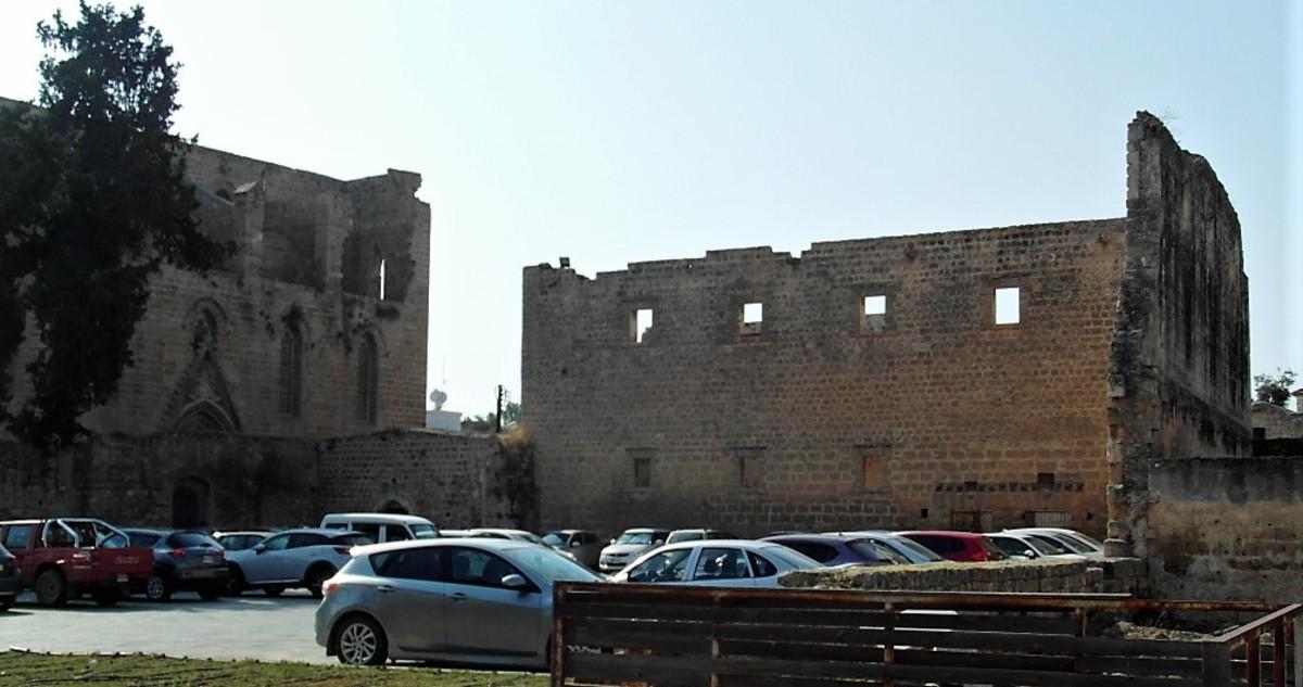 A grand location for a car park.