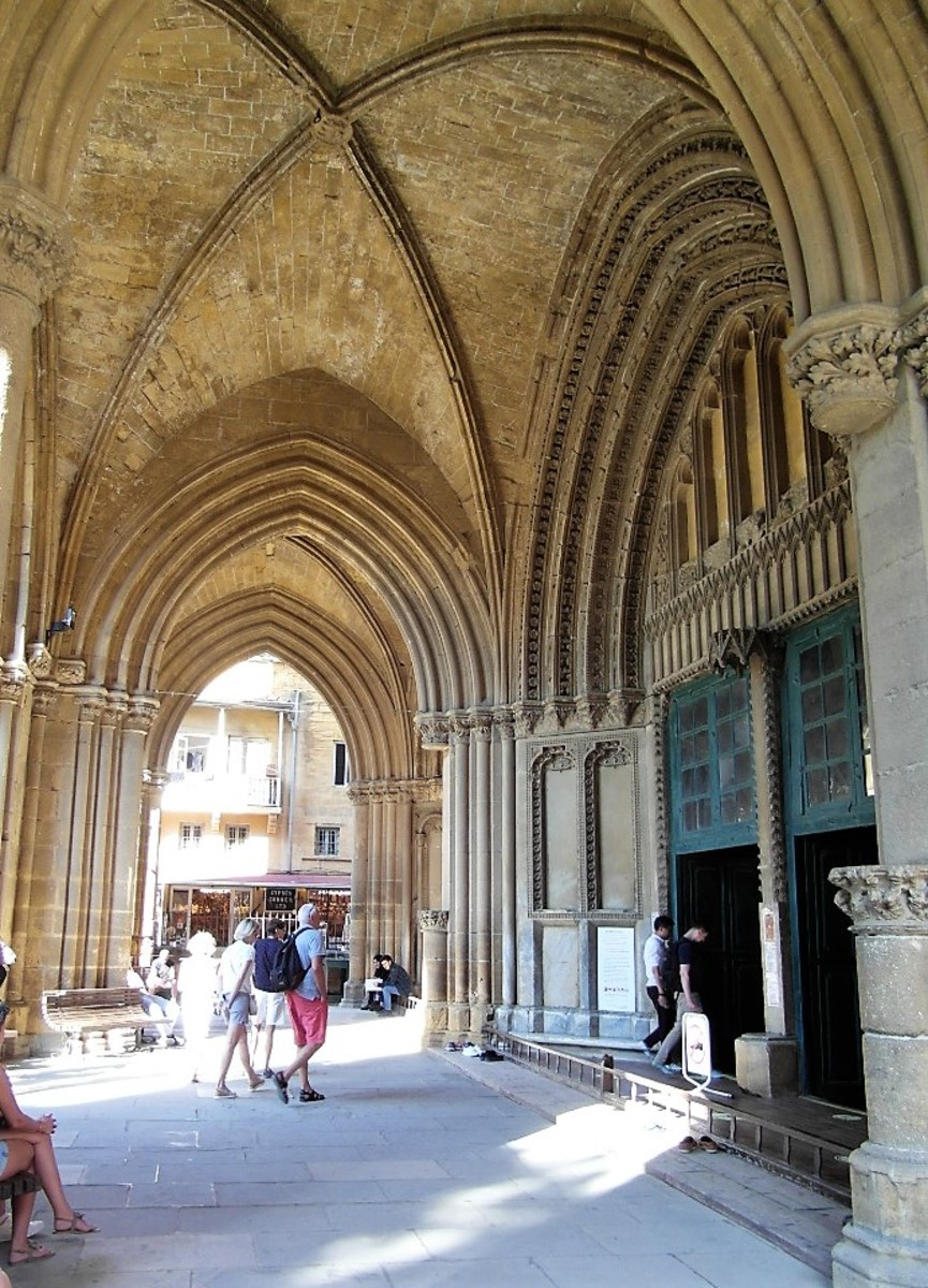 Entrance to Selimiye Mosque, Nicosia.