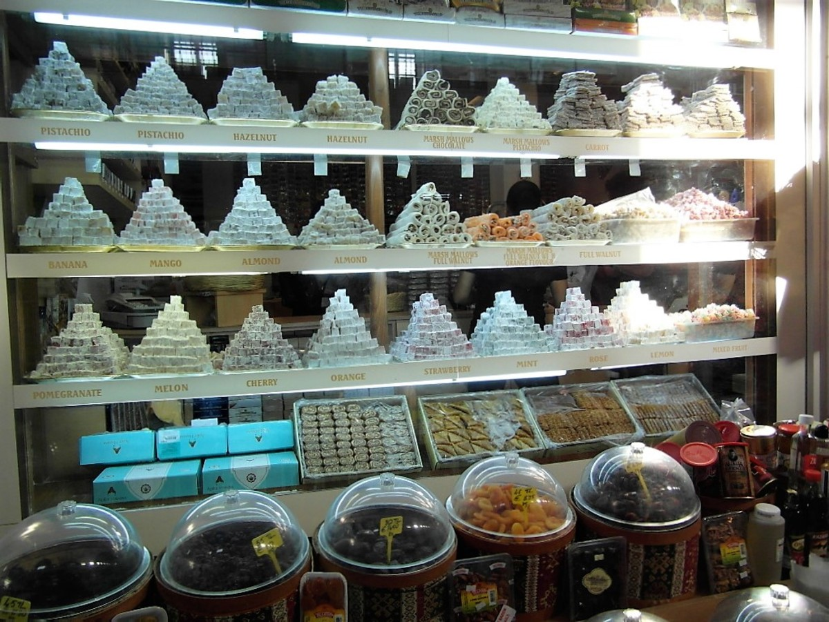 Assorted sweet delights in North Nicosia.