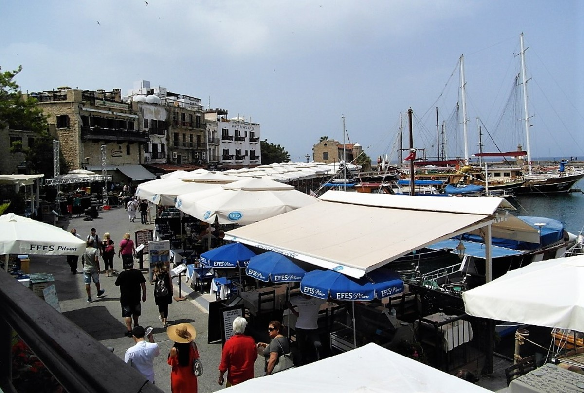 Kyrenia harbor area.