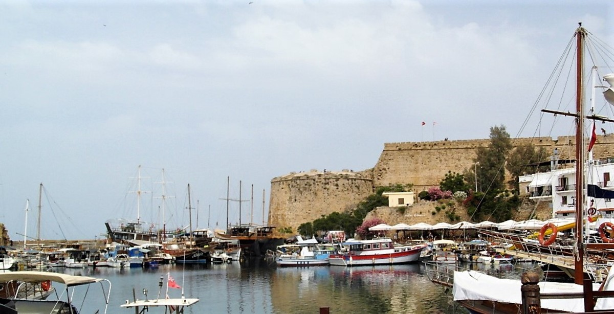 The castle overlooking Kyrenia harbor..
