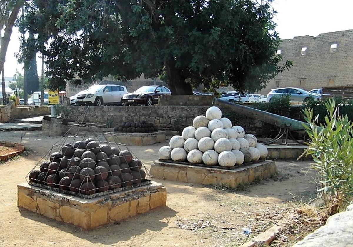 Cannon balls.